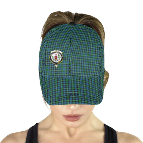 Image of Lyon Clan Clan Badge Tartan Dad Cap - BN03