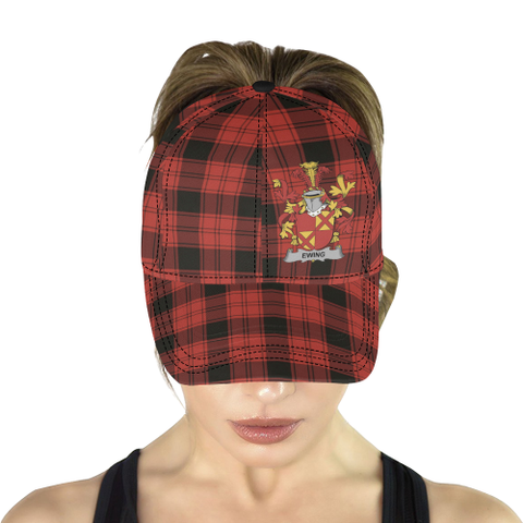Image of Ewing Clan Badge Tartan Dad Cap - BN