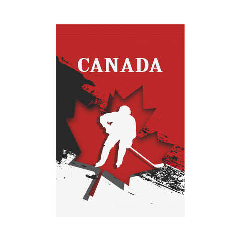 Canada Hockey Garden Flag - Maple Leaf Hockey | Love The World