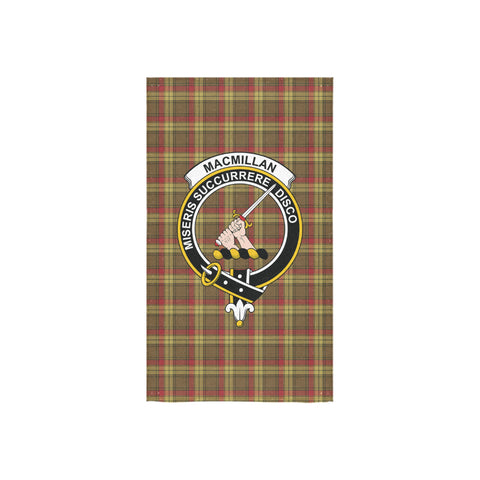 MacMillan Old Weathered Tartan Towel Clan Badge NN5