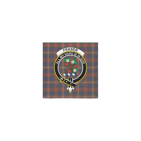 Fraser Hunting Modern Tartan Towel Clan Badge | 1sttheworld.com