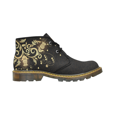 Scotland Chukka Boot Scottish Golden Thistle | Special Custom Design