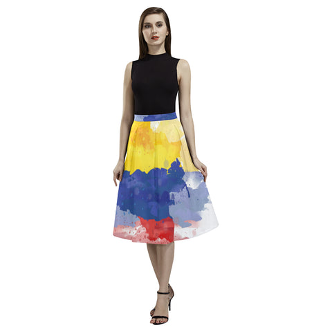 COLOMBIA 02 FLAG AOEDE CREPE SKIRT A1