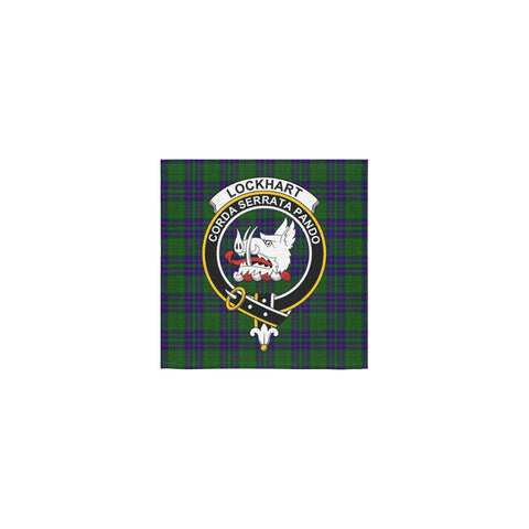 Lockhart Modern Tartan Towel Clan Badge | 1sttheworld.com
