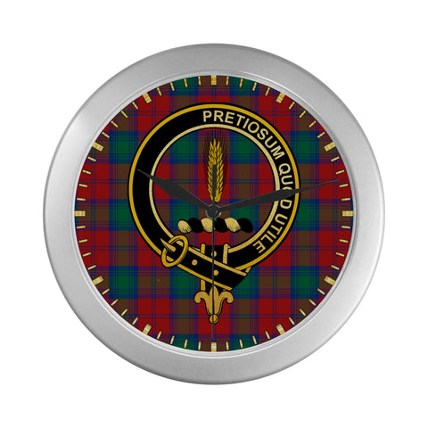 Image of AUCHINLECK OR AFFLECK CLAN TARTAN WALL CLOCK A9