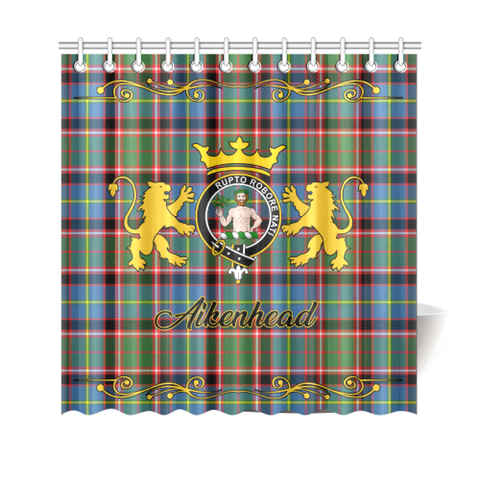 Tartan Shower Curtain - Aikenhead Clan | Scottish Home Set | Over 300 Clans