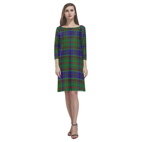 Image of Adam Tartan Dress - Rhea Loose Round Neck Dress NN5
