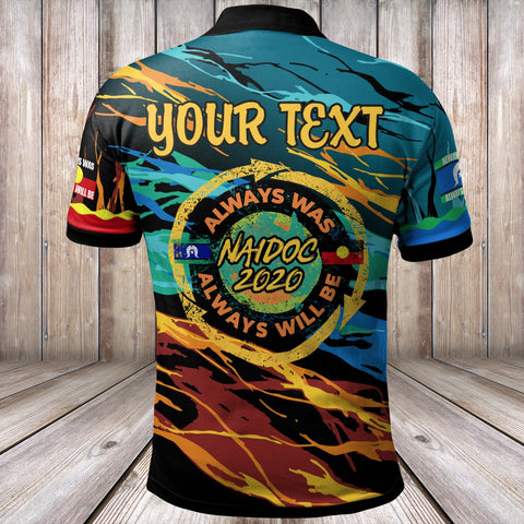 Image of (Custom Text) Australia Polo Shirts - Naidoc Always Was, Always Will Be - BN17