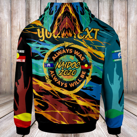 Image of (Custom) Australia Zip-Up Hoodies - Naidoc Always Was, Always Will Be - BN17