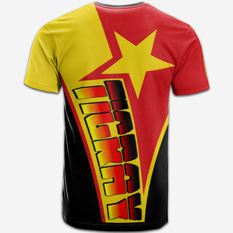 1sttheworld T-shirt - Tigray In My Heart - Tigray Original Flag - BN21