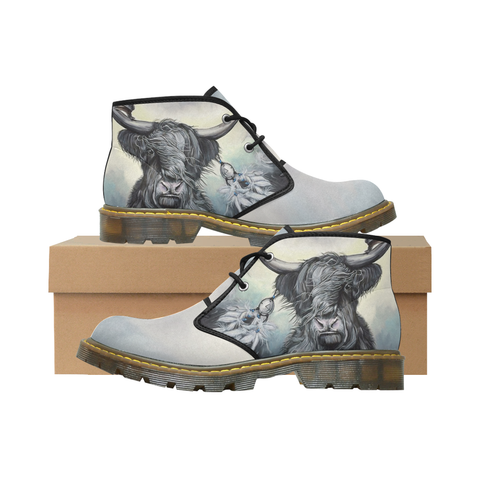 Scottish Highland Cow Chukka Boots A7