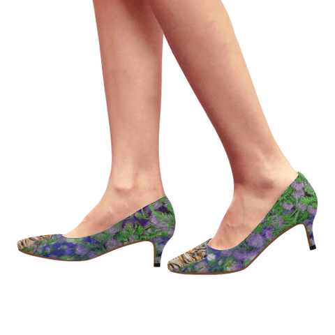 Image of Scotland High Heel  - Scottish Fold Cat and Thistle | Special Custom Designs