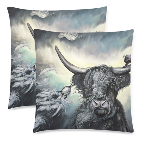 Image of Scotland Pillow Case - Scottish Highland Cow Zippered Pillow | Hot Sale