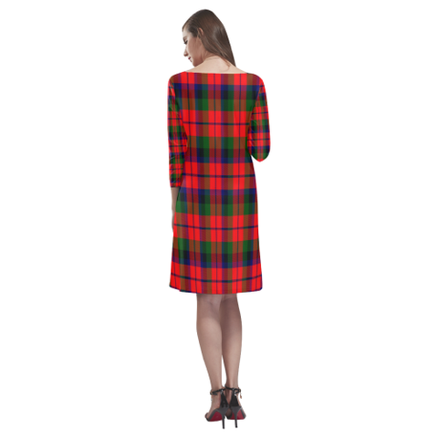 Macnaughton Modern Tartan Dress - Rhea Loose Round Neck Dress - BN