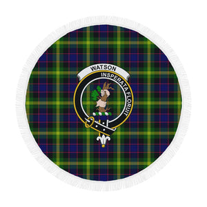 WATSON MODERN CLAN BADGE TARTAN BEACH BLANKET th8