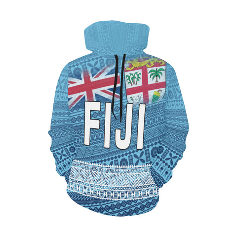 Image of Fiji Tapa Hoodie Flag Th5