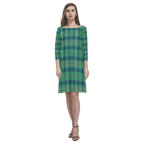 Kennedy Ancient Tartan Dress - Rhea Loose Round Neck Dress NN5