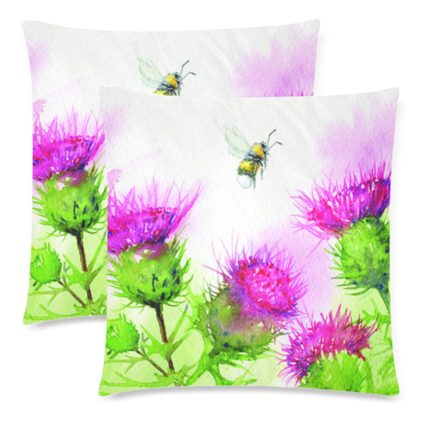 Thistle 19 Zippered Pillow Cases A1