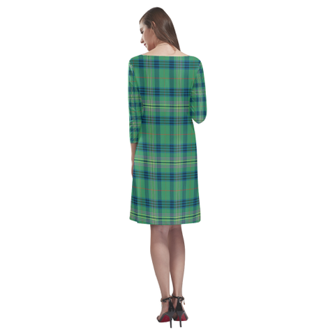 Image of Kennedy Ancient Tartan Dress - Rhea Loose Round Neck Dress - BN