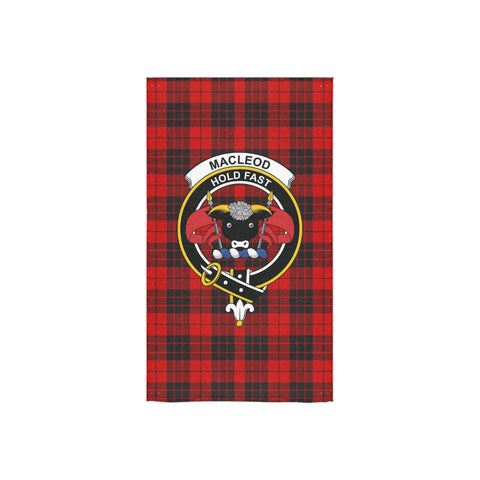 Image of MacLeod of Raasay Tartan Towel Clan Badge NN5