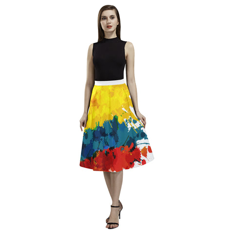 COLOMBIA 03 FLAG AOEDE CREPE SKIRT A1