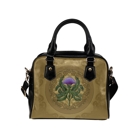 Thistle Scottish Luxury Shoulder Handbag - Bn01
