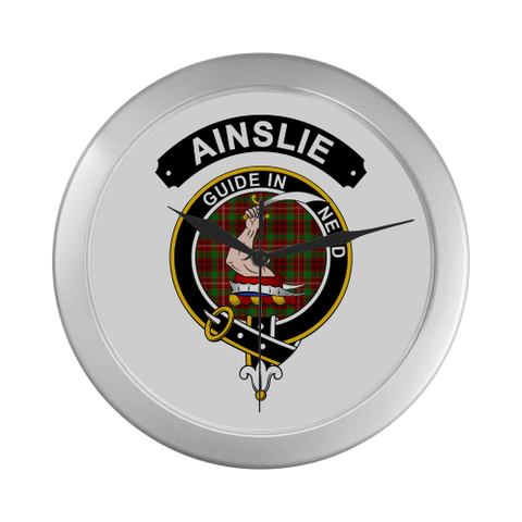Image of Ainslie Clan Tartan Wall Clock A7