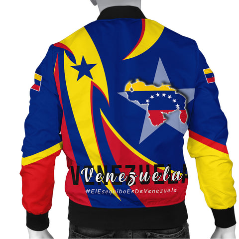 1stTheWorld Men's Bomber Jacket - Venezuela In My Heart A30
