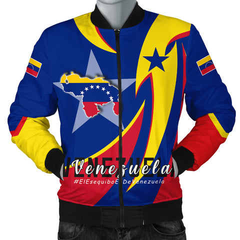 Image of 1stTheWorld Men's Bomber Jacket - Venezuela In My Heart A30