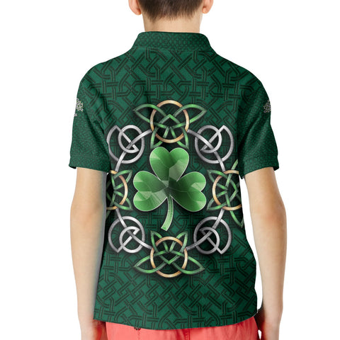Celtic Kid Polo Shirt - Ireland Celtic Shamrock - BN21