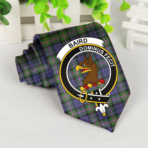 Baird Tartan Tie with Clan Crest TH8
