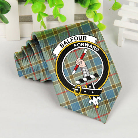 Baldfour Tartan Tie with Clan Crest TH8