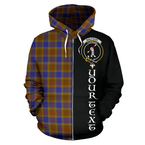 (Custom your text) Balfour Modern Tartan Hoodie Half Of Me | 1sttheworld.com