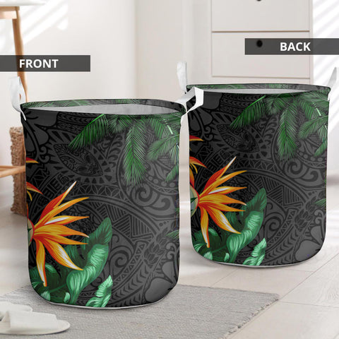 Image of  Polynesian Laundry Basket Banana Palm Leaves And Coconut Tree I Love The World