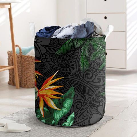 Polynesian Laundry Basket Banana Palm Leaves And Coconut Tree I Love The World