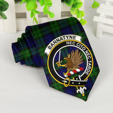 Bannatyne Tartan Tie with Clan Crest TH8