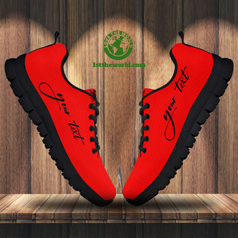 (Custom) Albania Sneakers Red Flag Double-Headed Eagle Personalized Signature A18