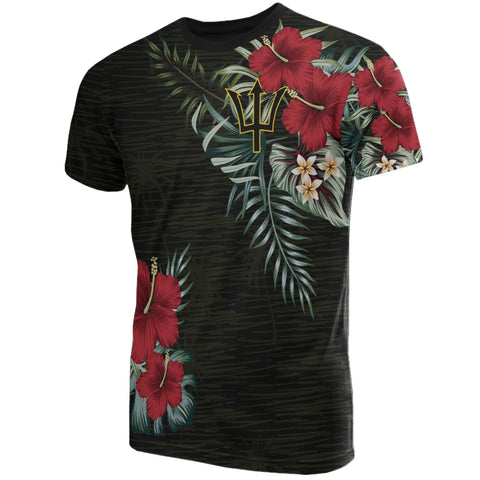 Image of Barbados Hibiscus T-Shirt | Men & Women | 1sttheworld.com