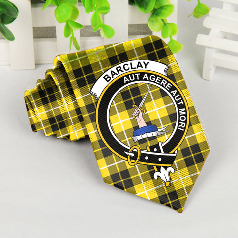 Barclay Tartan Tie with Clan Crest TH8
