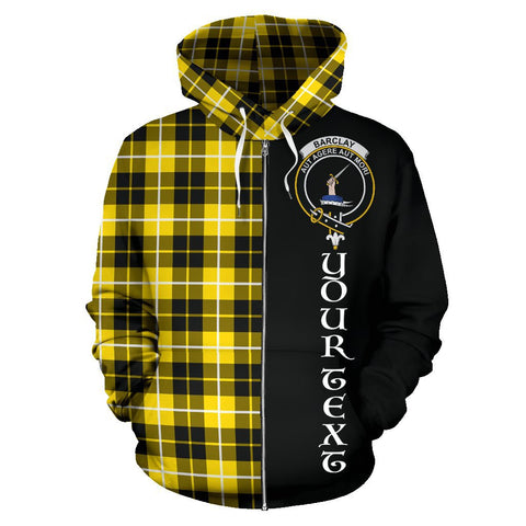 (Custom your text) Barclay Dress Modern Tartan Hoodie Half Of Me | 1sttheworld.com