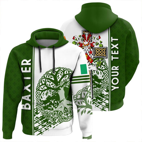 Image of Baxter Irish Celtic Cross Custom Hoodie | 1sttheworld