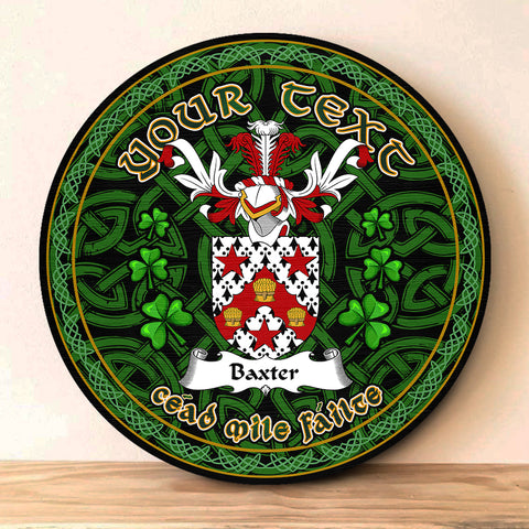 Image of Baxter Celtic Irish Round Wooden Sign | 1sttheworld.com