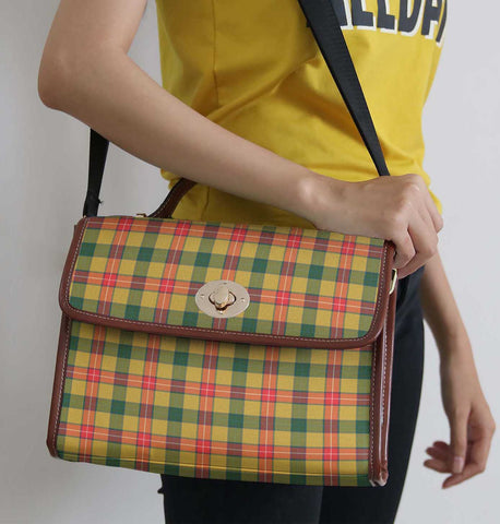 Image of Tartan Bag - Baxter Canvas Handbag A9