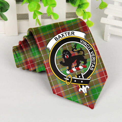 Baxter Tartan Tie with Clan Crest TH8