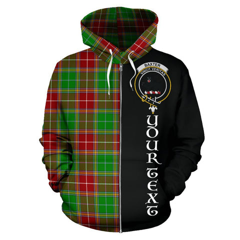 (Custom your text) Baxter Modern Tartan Hoodie Half Of Me | 1sttheworld.com