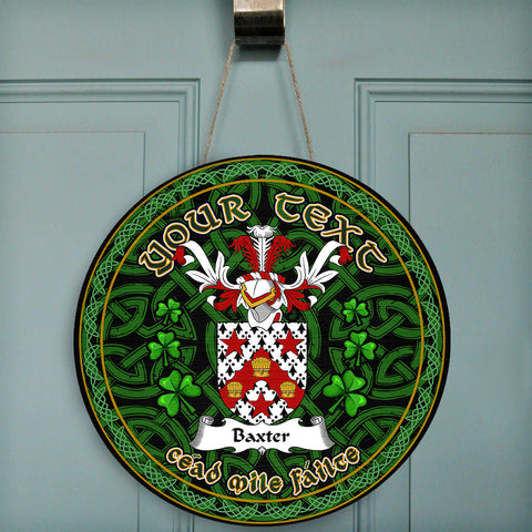 Image of Baxter Celtic Irish Round Wooden Sign