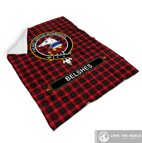 BELSHES (OR BELSCHES) CLAN TARTAN BLANKET A1
