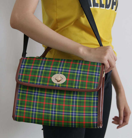 Image of Tartan Bag - Bisset Canvas Handbag A9