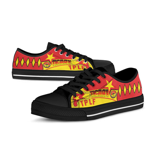 Tigray Low Top Shoes - Tigray People's Liberation Front With Original Flag - BN21