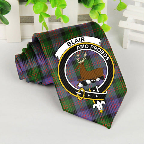 Blair Modern Tartan Tie with Clan Crest TH8